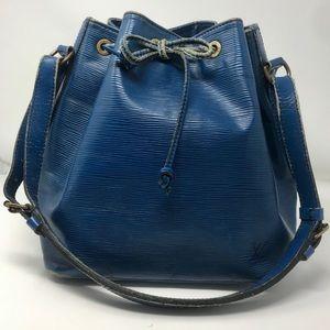 Louis Vuitton Vintage Blue Epi Petit Noe Bag